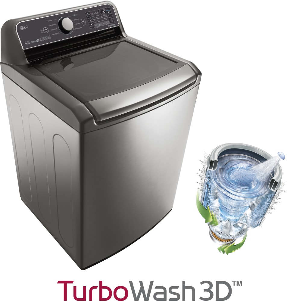 LG WT7300CV 27 Inch Top Load Smart Washer With SmartThinQ