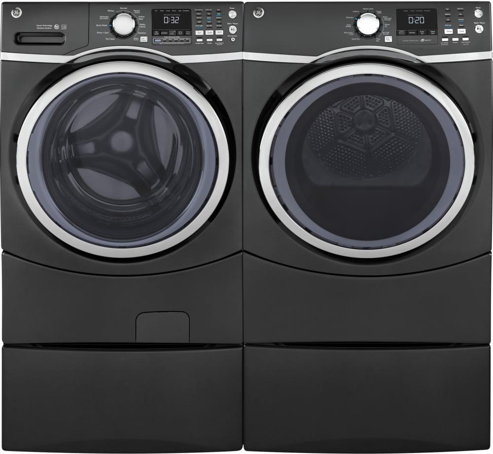 Ge Gewadrgd72 Side By Side On Pedestals Washer Amp Dryer Set