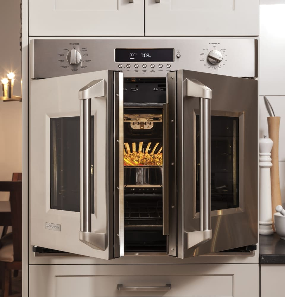Monogram zet1fhss 30 inch built in french door convection for Luxury oven