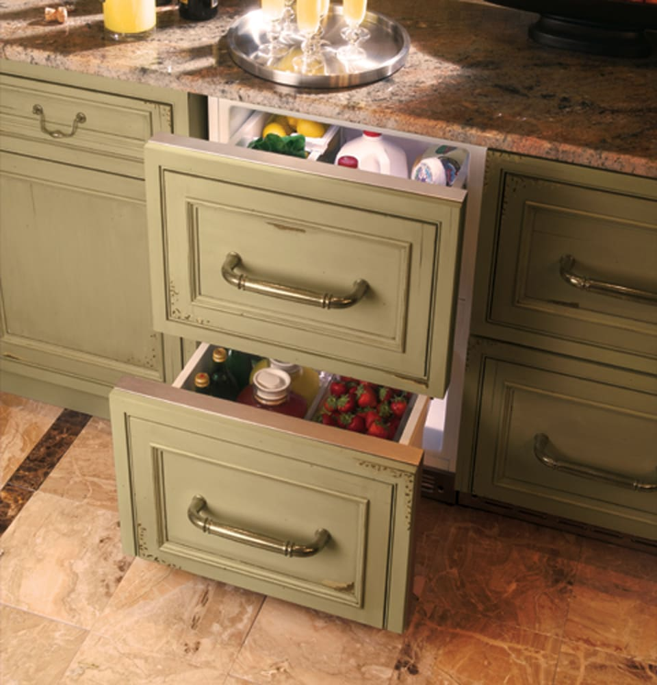 Built In Drawers ~ Monogram zidx hxx inch built in double drawer compact