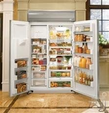 Monogram Zis480nh Ge 48 Built In Side By Refrigerator