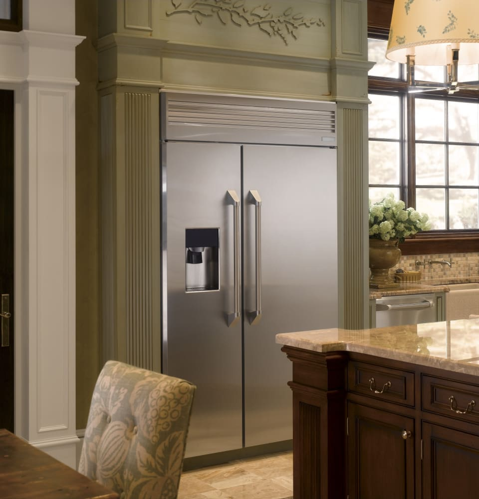 Sub Zero Hours >> Monogram ZISP480DHSS 48 Inch Built-in Side by Side Refrigerator with 30 cu. ft. Capacity ...
