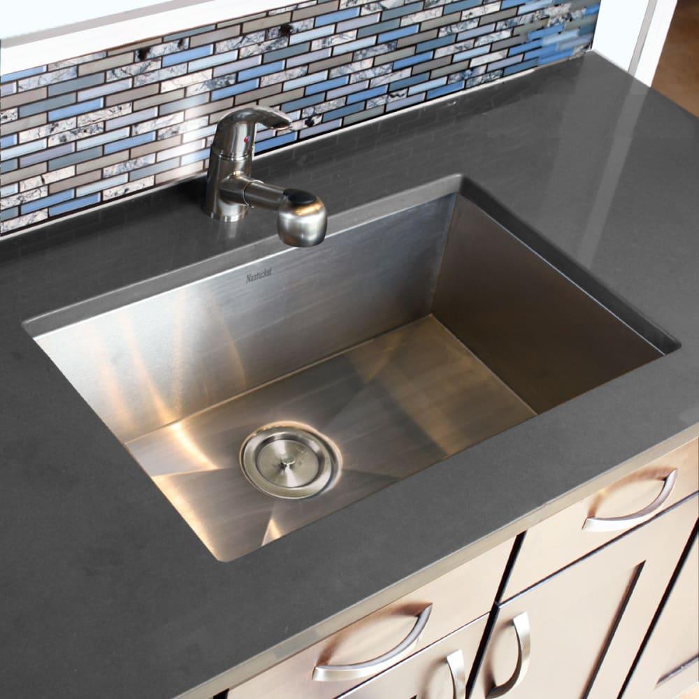 Nantucket Sinks Zr2818816 28 Inch Undermount Kitchen Sink With 8