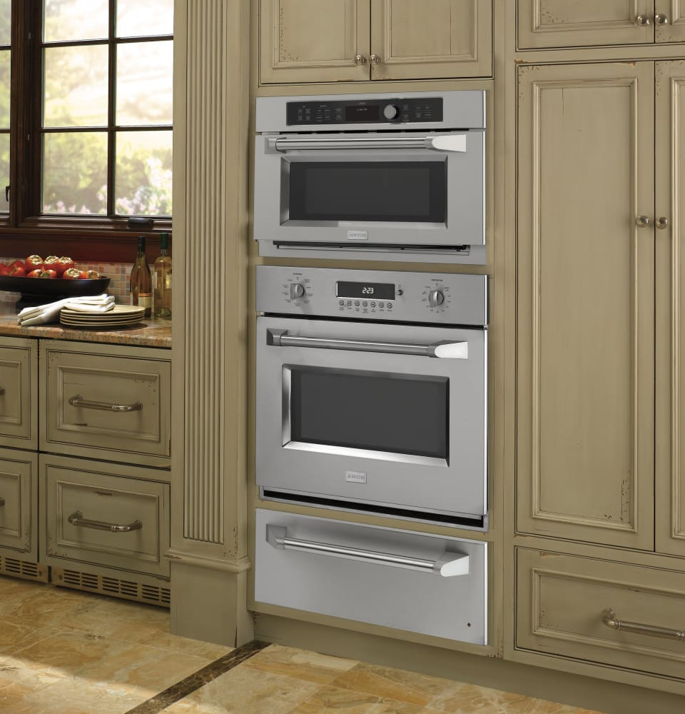 Wall Oven Cabinets: Monogram ZSC1201JSS 30 Inch Single Electric Wall Oven With