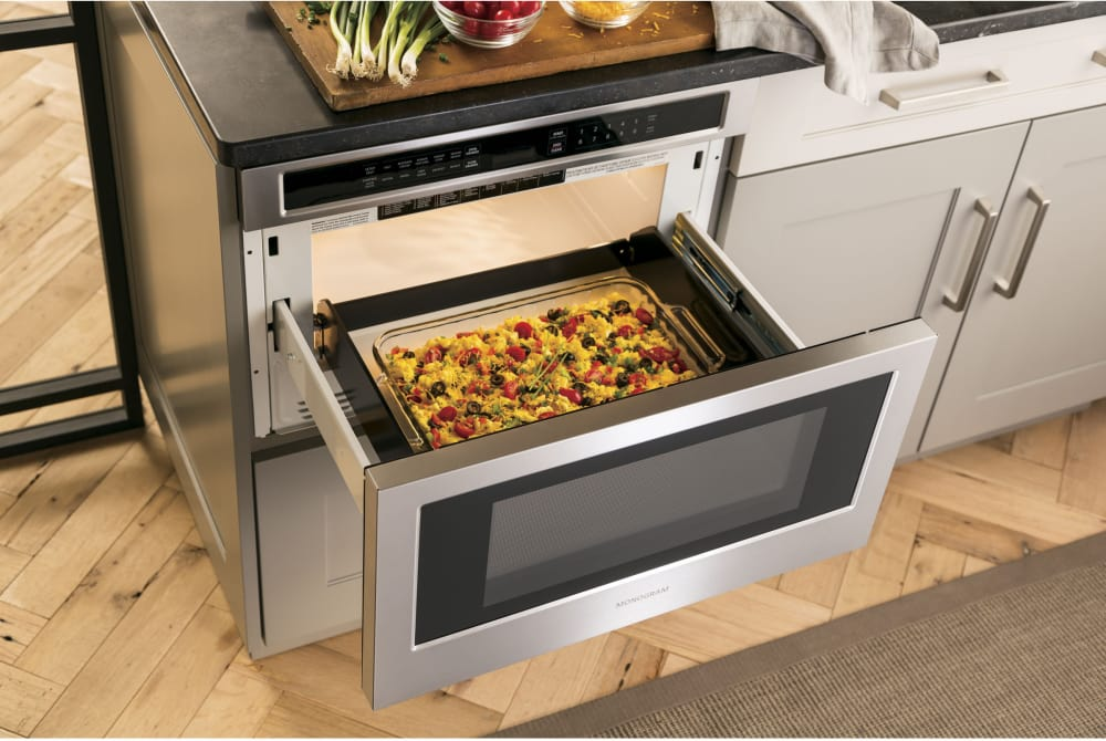 Monogram Zwl1126sjss 24 Inch Microwave Drawer With 1 2 Cu