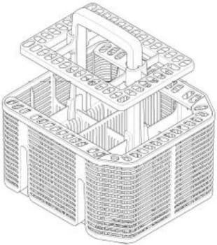 Miele 09614020 - Full-Size Cutlery Basket