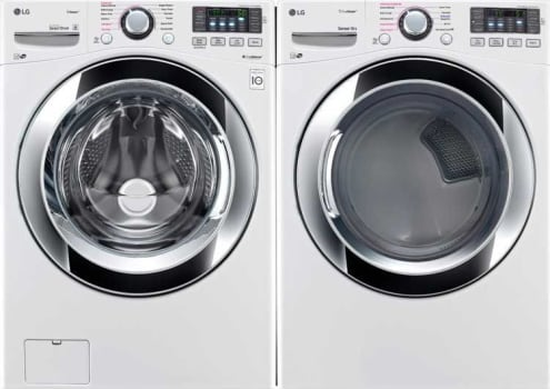 Lg Lgwadrew101 Side By Washer Dryer Set With Front Load And Electric In White