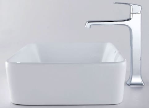 Kraus Decorum Series CKCV12115200CH - Rectangular Ceramic Sink with Decorum Faucet