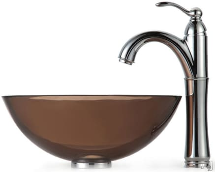 Kraus Clear Brown Series CGV1031412MM1005CH - Chrome Faucet
