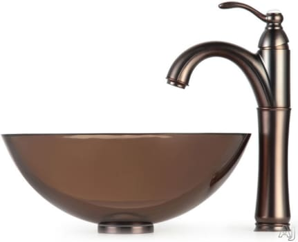 Kraus Clear Brown Series CGV1031412MM1005ORB - Oil Rubbed Bronze Faucet
