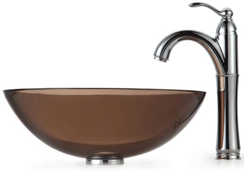 Kraus Clear Brown Series CGV10312MM1005CH - Chrome Faucet