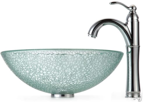 Kraus Broken Glass Series CGV50012MM1005CH - Chrome Faucet