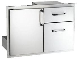 "American Outdoor Grill 1830SSDD - 18"" x 30"" Door with Double Drawer"