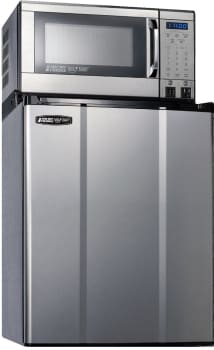 MicroFridge 23MF47D1S - 2.28 cu. ft. Compact Refrigerator with 700 Watt Microwave (Stainless Steel)