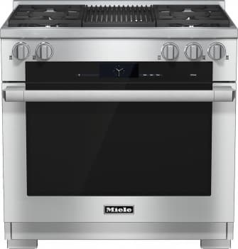 "Miele M-Touch Series HR1935DFGR - 36"" Dual-Fuel Range with Grill"