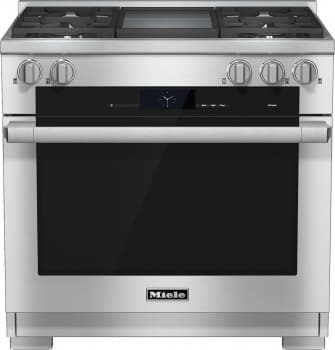 "Miele M-Touch Series HR1936DFGD - 36"" Dual-Fuel Range with Griddle"