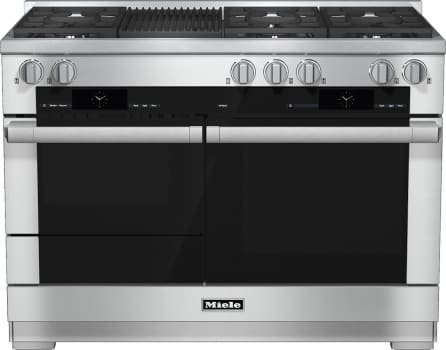 "Miele M-Touch Series HR1955DFGRX - 48"" Dual-Fuel Range with Grill"