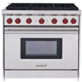 Wolf Gr366 36 Inch Pro Style Gas Range With 6 Dual Stacked