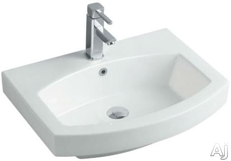 "Empire Industries Royale Collection R24W1 - 24"" White Ceramic Sink for Arch Collection Vanities and Mirrors"