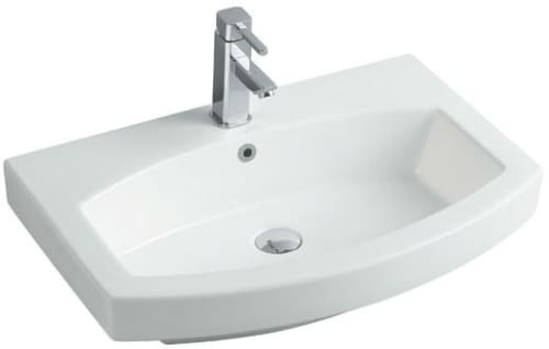 "Empire Industries Royale Collection R28W1 - 28"" White Ceramic Sink for Arch Collection Vanities and Mirrors"