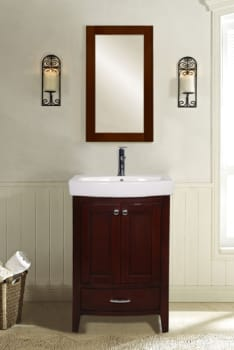 "Empire Industries Arch Collection AMW - 22"" Arch Collection Mirror for Bathroom Sink and Vanity (available in White, Dark Cherry, or Black finish!)"