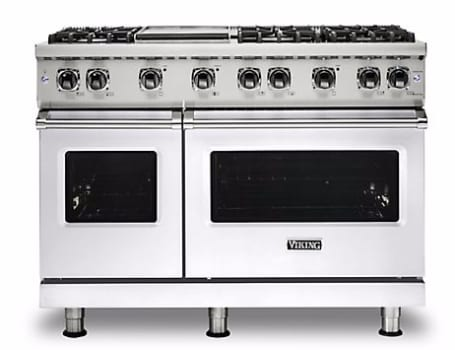 Viking Professional 5 Series VGR5488BWHLP - White Front View