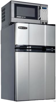 MicroFridge 31MF4D1X - 3.1 cu. ft. Compact Refrigerator with 700 Watt Microwave (Stainless Steel)