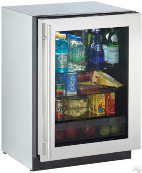 "U Line 3000 Series 3024RGLS00 - 24"" Compact Refrigerator"