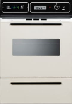 "Summit STM7212KW - 24"" Single Gas Oven with Lower Broiler Compartment in Bisque"