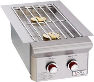 American Outdoor Grill 3282T - Built-in Double Side Burner at 25,000 BTUs