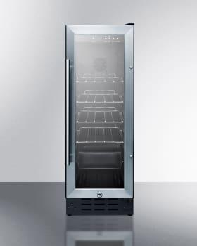 Summit SCR1225B - SUMMIT Glass Door Beverage Center