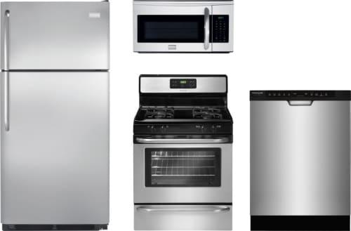 Frigidaire FRRERADWMW233 4 Piece Kitchen Appliances Package with Top ...