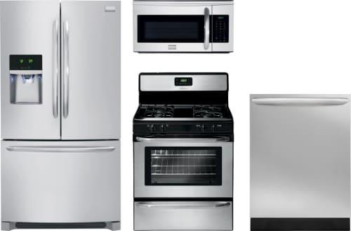 Frigidaire FRRERADWMW265 4 Piece Kitchen Appliances Package with ...