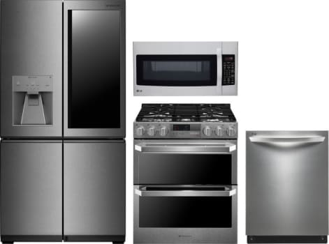 Lg Lgreradwmw932 Lg 4 Piece Kitchen Appliances Package