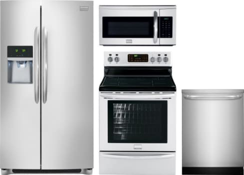 Frigidaire FRRERADWMW1340 4 Piece Kitchen Appliances Package with ...