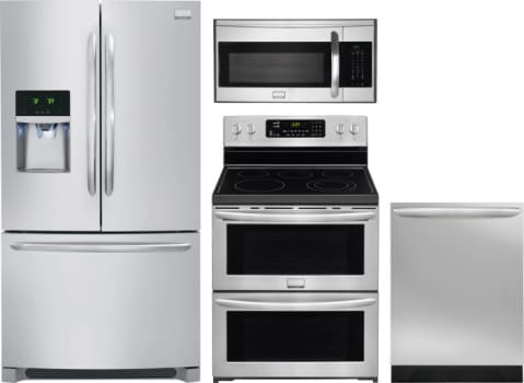 Frigidaire FRRERADWMW1353 Frigidaire 4 Piece Kitchen Appliances ...