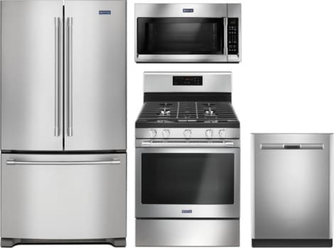 Maytag MARERADWMW44 4 Piece Kitchen Appliances Package with French ...