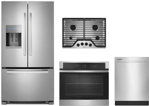 Amana AMRECTWODW1 4 Piece Kitchen Appliances Package with French ...