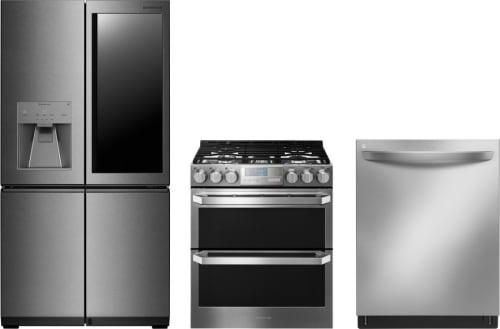 822833b9e66 LG LGRERADW87 3 Piece Kitchen Appliances Package with French Door ...