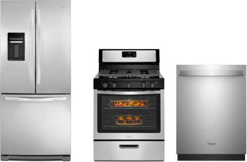 Whirlpool WPRERADW49 3 Piece Kitchen Appliances Package with French on