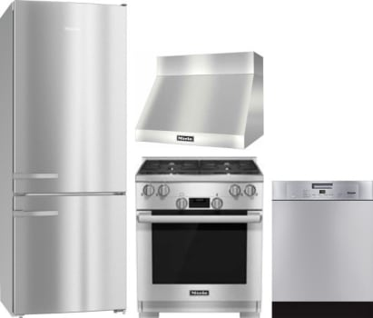 Miele MIRERADWRH139 4 Piece Kitchen Appliances Package with Bottom ...
