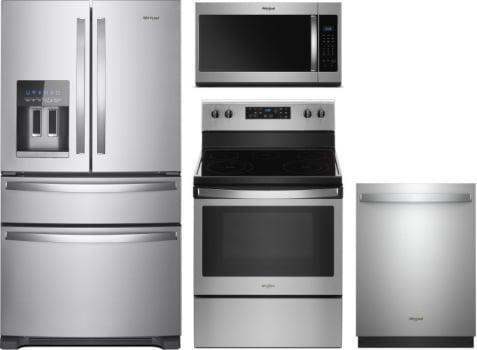 Whirlpool WPRERADWMW7997 4 Piece Kitchen Appliances Package with ...