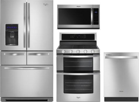 Whirlpool WPRERADWMW8105 4 Piece Kitchen Appliances Package with ...