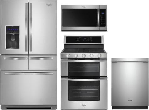Whirlpool WPRERADWMW8109 4 Piece Kitchen Appliances Package with ...