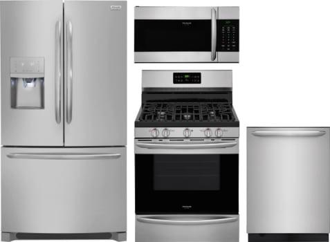 Frigidaire FRRERADWMW8893 4 Piece Kitchen Appliances Package with ...