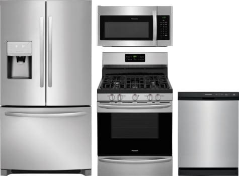 Frigidaire FRRERADWMW8943 4 Piece Kitchen Appliances Package with ...