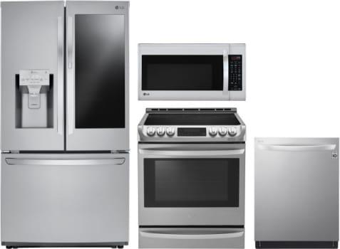 Lg Lgreradwmw8590 4 Piece Kitchen Appliances Package With French