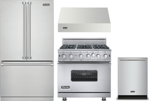 Viking VIRERADWRH541 4 Piece Kitchen Appliances Package with French on ge kitchen appliances packages, discount stainless steel appliance packages, bosch kitchen appliances packages,