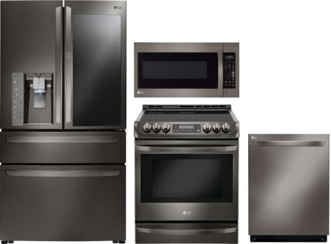 Lg Lgreradwmw8773 4 Piece Kitchen Appliances Package With French