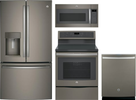 Ge Gereradwmw10667 4 Piece Kitchen Appliances Package With French